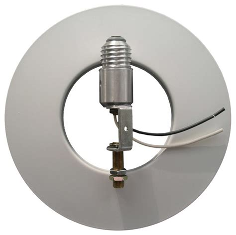 recessed can lighting conversion kit in silver recessed