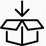 Package Box Icon Thin Editor Open