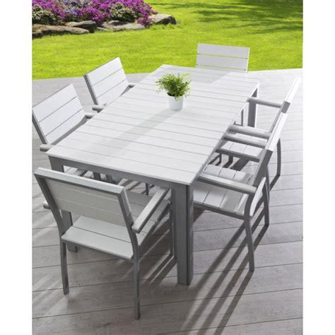 chaises de jardin blanches plastique beautiful table de jardin plastique blanc leclerc ideas