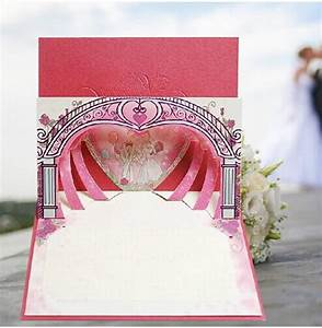 Personalized design 3d white groom bride heart shape red for 3d printer wedding invitations