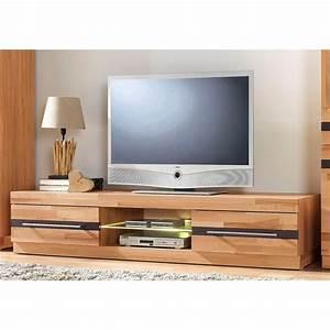 Meuble Tele Bas : meuble tv bas 2 tiroirs 1 espace ouvert largeur 160 cm coeur de h tre autres mobilier ~ Teatrodelosmanantiales.com Idées de Décoration