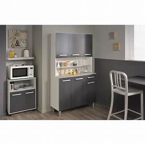 Buffet De Cuisine Gris : buffet de cuisine 101cm shiny gris ~ Mglfilm.com Idées de Décoration