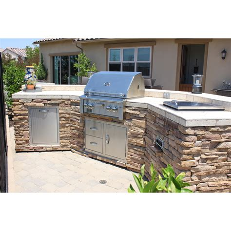 bbq outdoor kitchen islands curved bbq island w stacked and stereo system