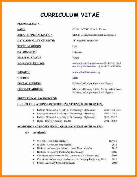 22525 cv resume format resume curriculum vitae template 4 cv format sle