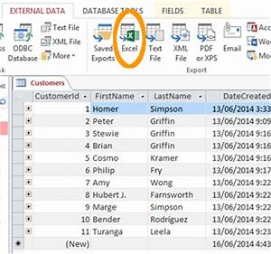 export access 2013 database to excel With export access data to excel template
