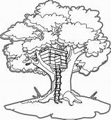 Coloring Treehouse Ladder sketch template