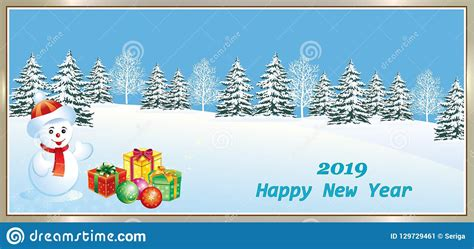 merry christmas and happy new year 2019 stock vector illustration of banner date 129729461