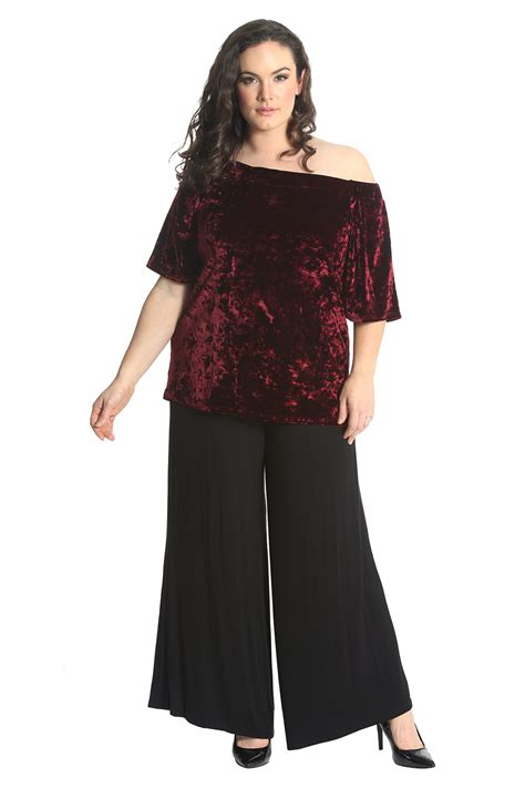 New Women Top Plus Size Ladies Velvet Gypsy Off Shoulder ...