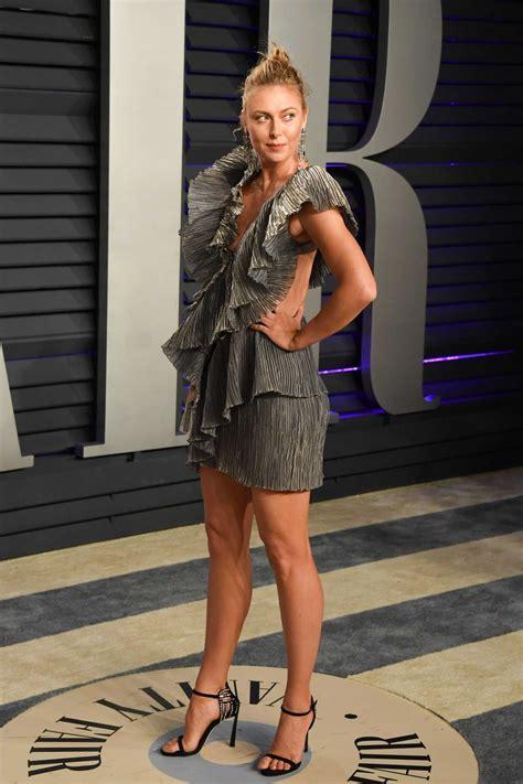 Maria Sharapova Attends Vanity Fair Oscar Party