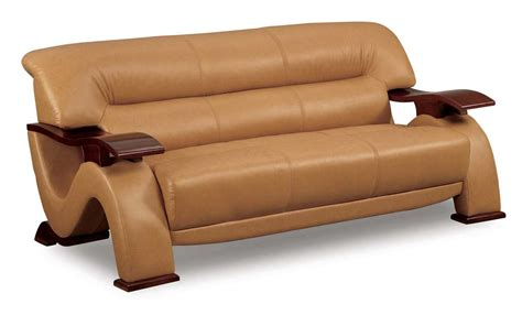 Gl Sofabrown Leatherette Sofas