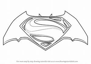 Learn How to Draw Batman v Superman Logo (Batman v ...