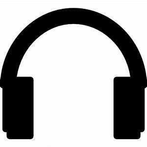 Headphones silhouette - Free music icons