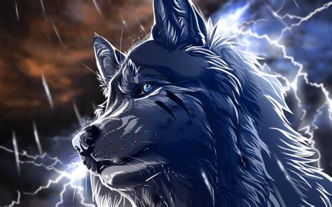 Anime Wolves Desktop Wallpaper