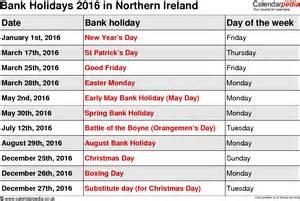 2016 uk bank holidays calendar template 2016