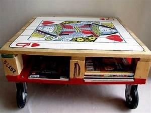 Table De Jeux A Faire Avec Poster Et Table Basse Palette