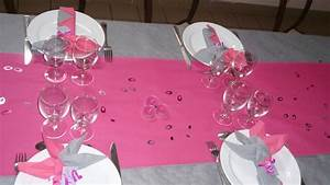 Deco Table Rose Et Gris : decoration communion rose et gris ~ Melissatoandfro.com Idées de Décoration