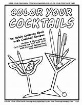 Coloring Martini Adult Cocktail Cocktails Recipes Getcolorings Pages Getdrawings sketch template
