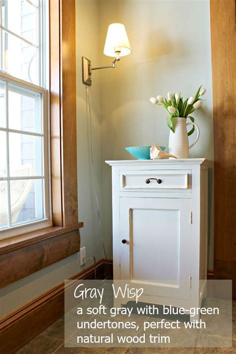 gray wisp by benjamin is a soft muted gray with a subtle blue green undertone
