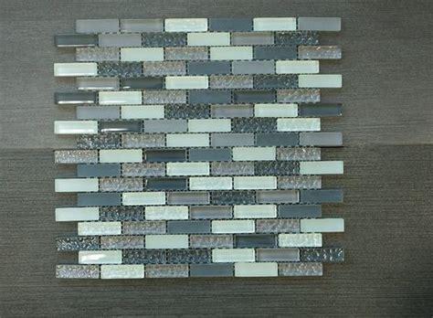 crystile grey    grey brown blue glass mosaic