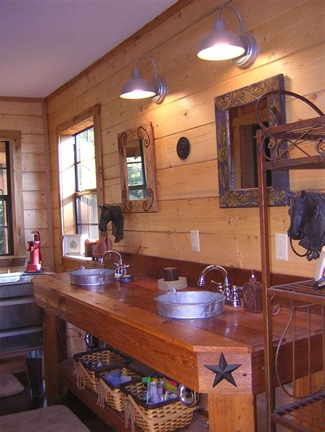 western style bathroom sinks western style bathroom with galvanized buckets upcyled