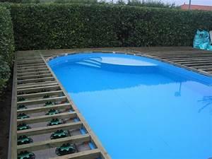 chantier plage de piscine terrasse composite fiberon 20 With carrelage plage piscine gris 11 terrasse bois entourage piscine nos conseils