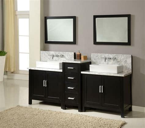 "J & J International 84"" Horizon Double Sink Vanity White"