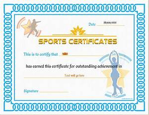 sports certificate templates for ms word professional With sport certificate templates for word