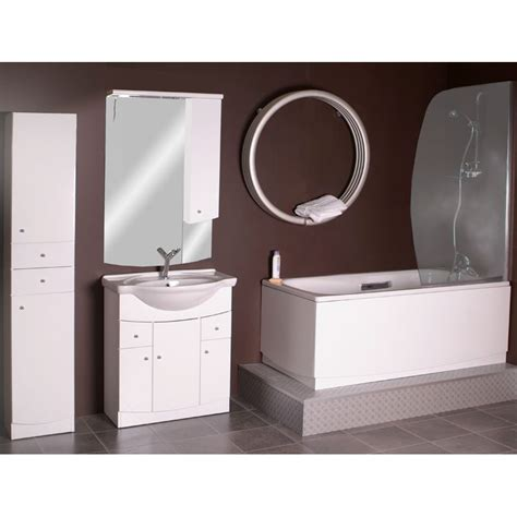 Curved Bathroom Mirror by Jupe Curved Camerino Mirror Cabinet With Lights White