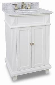 Small white bathroom vanity with marble top and sink 24 for Bathroom vanities 24 inches wide
