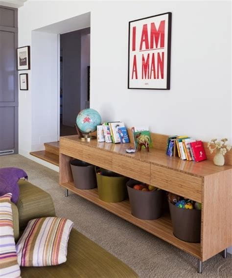 living room storage spaces   kids toys interior