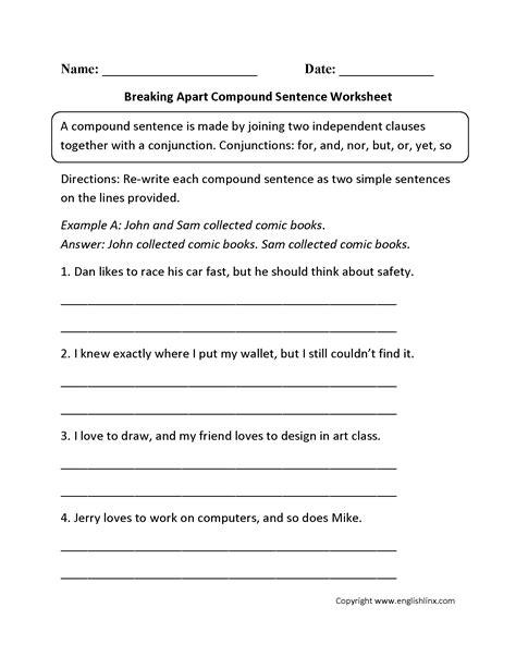 images   grade sentence structure worksheets