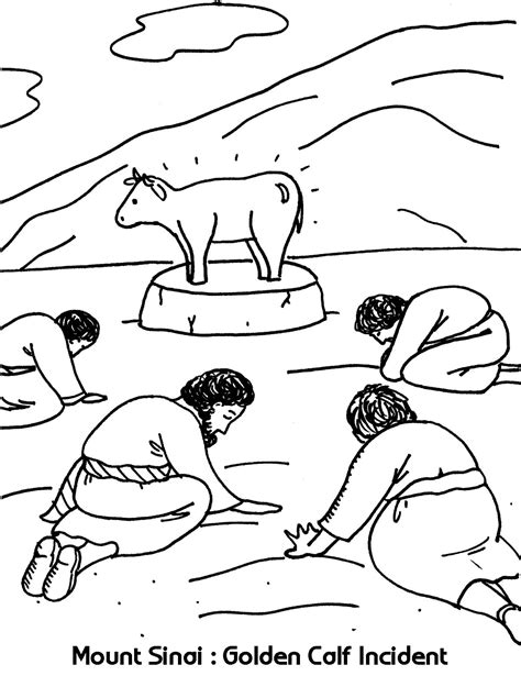 kids photo craft for cmad mount sinai golden calf incident coloring sheets wesleyan