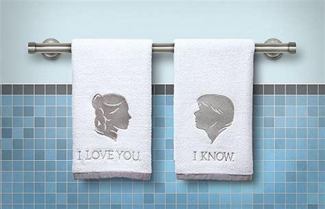Star Wars Han and Leia Bathroom Hand Towels » Petagadget