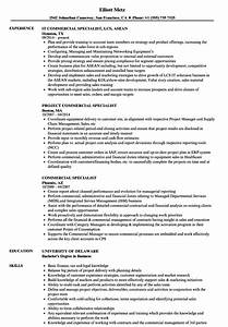 Commercial Specialist Resume Samples