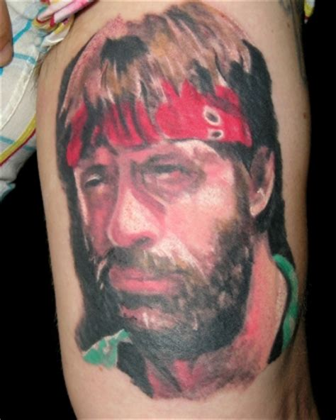 chuck norris tattoo picture
