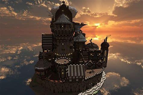 theceran flying steampunk island map minecraftnet