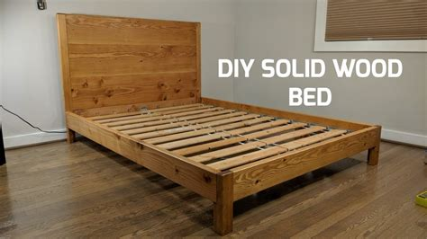 diy solid wood bed nathan builds youtube