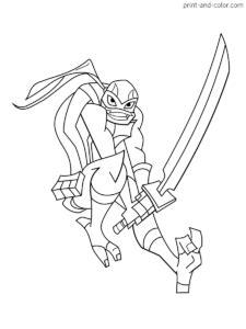 rise  teenage mutant ninja turtles coloring pages