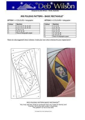 basic rectangle iris folding pattern  craftsuprint