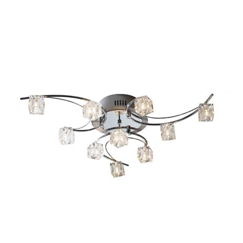 ceiling lights for low ceilings utopia large modern low ceiling light with ice cube glass