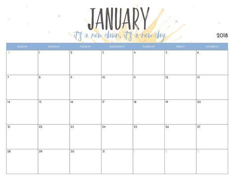 free 2018 calendar template free printable 2018 monthly calendar calendar 2018