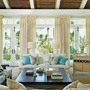 coastal family room decorating living rooms With coastal living room decorating ideas