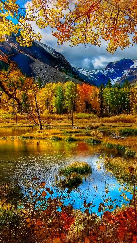Autumn Iphone X Fall Wallpaper by Mountain Autumn Iphone 5s Wallpaper Iphone 5 Se