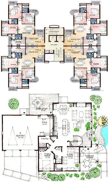 townhouse floor plans images  pinterest