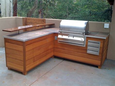 bbq kitchen ideas outdoor kitchen bbq island made to look like wooden