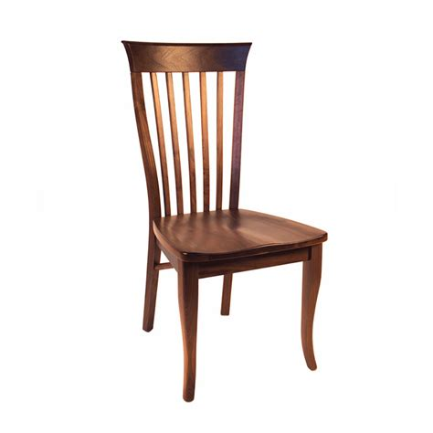 in stock classic shaker walnut dining side chair made