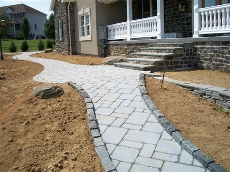 enchanting outdoor design with laying pavers and sand also