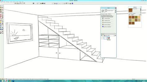 tuto creer des rangements sous  escalier avec sketchup