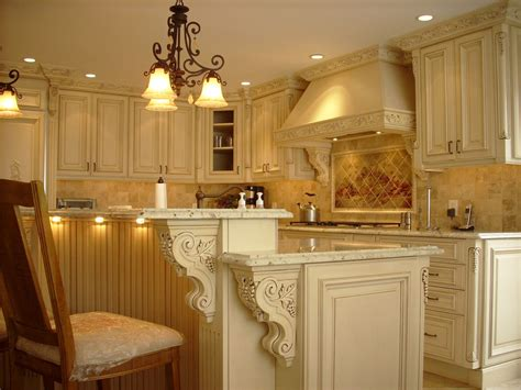 Decorative Molding by Corbels For Granite Kitchen Traditional With Blue Hood