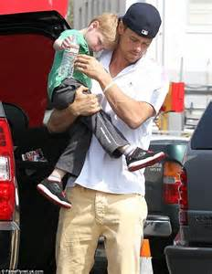 Josh Duhamel shows his paternal side as he enjoys time ...